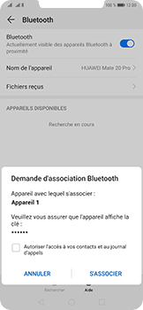 Huawei Mate 20 Pro - Bluetooth - connexion Bluetooth - Étape 9