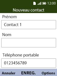 Alcatel 3088X - Contact, Appels, SMS/MMS - Ajouter un contact - Étape 8