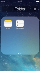 Apple iPhone 5 iOS 7 - Getting started - Personalising your Start screen - Step 7
