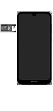 Huawei Y5 (2019) - Toestel - simkaart plaatsen - Stap 4