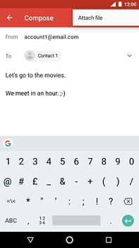 Nokia 6 (2018) - E-mail - Sending emails - Step 10