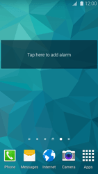 Samsung Galaxy S 5 - Getting started - Installing widgets and applications on your start screen - Step 7