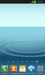 Samsung Galaxy Express - Startanleitung - Installieren von Widgets und Apps auf der Startseite - Schritt 9