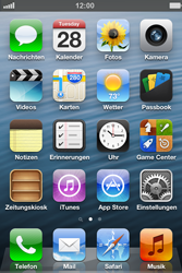 Apple iPhone 4S - SMS - Manuelle Konfiguration - Schritt 1