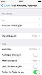 Apple iPhone 5 iOS 7 - E-Mail - Manuelle Konfiguration - Schritt 19