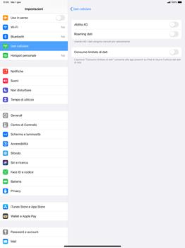 Apple iPad Pro 12.9 (1st gen) - ipados 13 - Rete - Come attivare la connessione di rete 4G - Fase 5