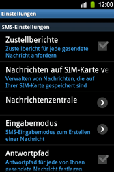 Samsung Galaxy Ace - SMS - Manuelle Konfiguration - 2 / 2