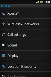 Sony ST27i Xperia Go - MMS - Manual configuration - Step 4