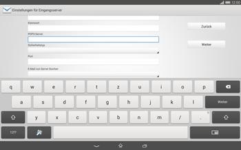 Sony Xperia Tablet Z2 LTE - E-Mail - Konto einrichten - Schritt 9