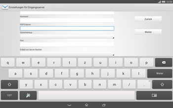Sony Xperia Tablet Z2 LTE - E-Mail - Manuelle Konfiguration - Schritt 9