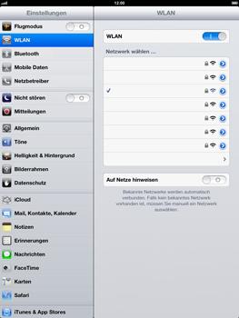 Apple iPad 4 - WLAN - Manuelle Konfiguration - Schritt 7