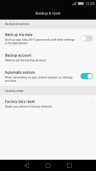 Huawei Ascend P8 - Mobile phone - Resetting to factory settings - Step 4