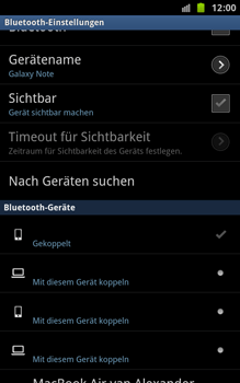 Samsung Galaxy Note - Bluetooth - Geräte koppeln - 12 / 13