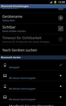 Samsung N7000 Galaxy Note - Bluetooth - Geräte koppeln - Schritt 12