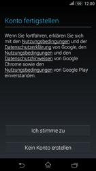 Sony Xperia E4G - Apps - Konto anlegen und einrichten - 13 / 18