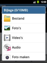 Samsung S5360 Galaxy Y - E-mail - E-mail versturen - Stap 9