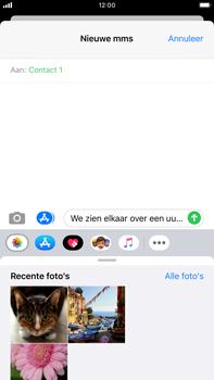 Apple iPhone 8 Plus - iOS 13 - MMS - afbeeldingen verzenden - Stap 10