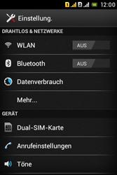 Sony Xperia Tipo Dual - Anrufe - Rufumleitungen setzen und löschen - Schritt 4
