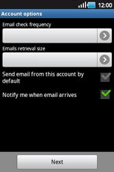 Samsung S5660 Galaxy Gio - E-mail - Manual configuration - Step 11