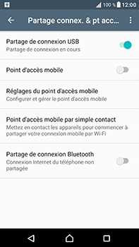 Sony Xperia XA1 Ultra - Internet et connexion - Utiliser le mode modem par USB - Étape 9