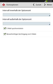 Samsung Galaxy Note 8-0 - E-Mail - Konto einrichten - 1 / 1
