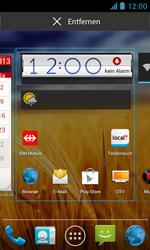 ZTE Blade III - Prise en main - Installation de widgets et d