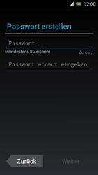Sony Ericsson Xperia Ray mit OS 4 ICS - Apps - Konto anlegen und einrichten - 8 / 18