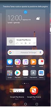 Huawei P20 Pro - Operazioni iniziali - Installazione di widget e applicazioni nella schermata iniziale - Fase 9