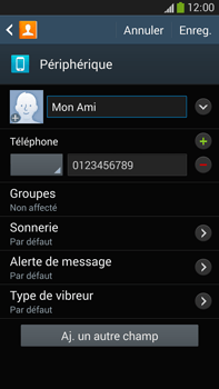 Samsung Galaxy Note 3 - Contact, Appels, SMS/MMS - Ajouter un contact - Étape 9