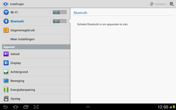 Samsung N8000 Galaxy Note 10-1 - Bluetooth - koppelen met ander apparaat - Stap 6