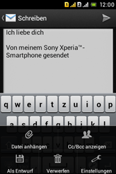 Sony Xperia Tipo Dual - E-Mail - E-Mail versenden - 11 / 18
