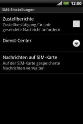 HTC A310e Explorer - SMS - Manuelle Konfiguration - Schritt 7