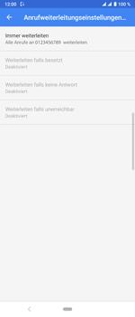 Sony Xperia 10 Plus - Anrufe - Rufumleitungen setzen und löschen - Schritt 11