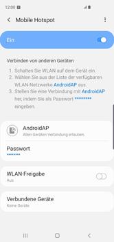 Samsung Galaxy S10 - WiFi - So aktivieren Sie einen WLAN-Hotspot - Schritt 13