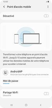 Samsung Galaxy Note9 - Android Pie - WiFi - Comment activer un point d'accès WiFi - Étape 12
