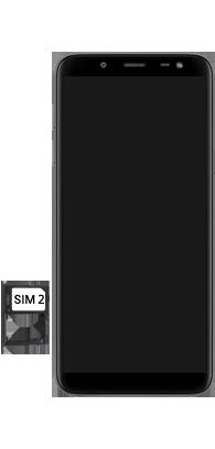 Samsung galaxy-j6-sm-j600fn-ds - Instellingen aanpassen - SIM-Kaart plaatsen - Stap 8