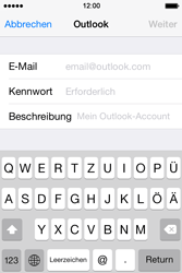 Apple iPhone 4S iOS 7 - E-Mail - 032c. Email wizard - Outlook - Schritt 7