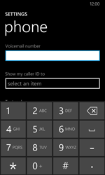 Nokia Lumia 630 - Voicemail - Manual configuration - Step 7