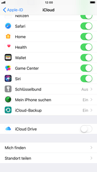 Apple iPhone 7 Plus - Software - iCloud synchronisieren - 5 / 10