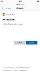 Apple iPhone 7 - iOS 12 - E-Mail - Konto einrichten (outlook) - Schritt 6