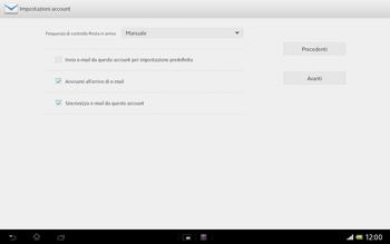 Sony Xperia Tablet Z LTE - E-mail - Configurazione manuale - Fase 15