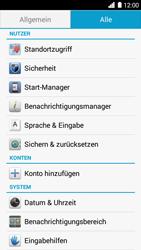 Huawei Ascend G6 - Fehlerbehebung - Handy zurücksetzen - Schritt 6