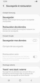 Samsung Galaxy S9 Android Pie - Données - Créer une sauvegarde avec votre compte - Étape 6