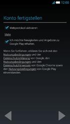 Alcatel Idol S - Apps - Konto anlegen und einrichten - 17 / 25