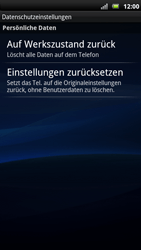 Sony Ericsson Xperia X10 - Fehlerbehebung - Handy zurücksetzen - Schritt 7