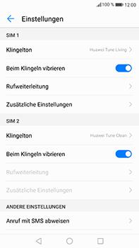 Huawei Mate 9 - Anrufe - Rufumleitungen setzen und löschen - 5 / 9