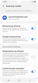 Samsung Galaxy A40 - Toestel - Stel Zoek mijn mobiel in - Stap 9