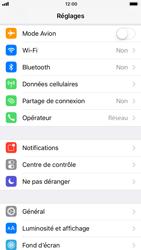 Apple iPhone 8 - Internet et roaming de données - Comment vérifier que la connexion des données est activée - Étape 3