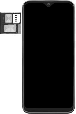 Samsung Galaxy A20e - Premiers pas - Insérer la carte SIM - Étape 4