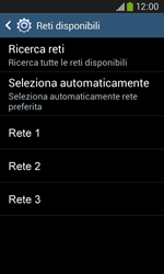 Samsung Galaxy Ace III - Rete - Selezione manuale della rete - Fase 8